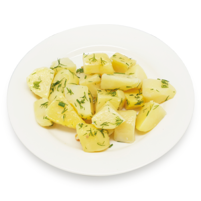 Картофель отварной с зеленью