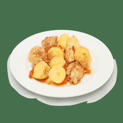 Картофель, томлёный с курицей