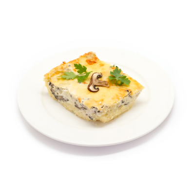 Запеканка картофельная с курицей и грибами